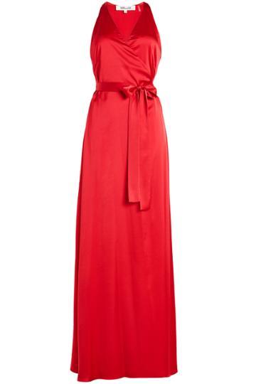 Diane Von Furstenberg Diane Von Furstenberg Floor Length Satin Gown