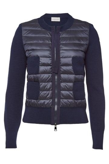 Moncler Moncler Cardigan With Virgin Wool And Down Filling