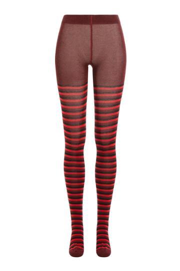 Sonia Rykiel Sonia Rykiel Striped Tights - Red