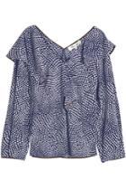 Diane Von Furstenberg Diane Von Furstenberg Ruffle Front Silk Blouse
