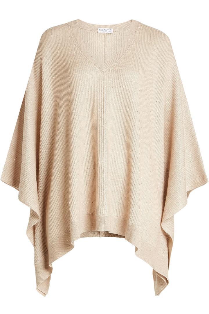 Brunello Cucinelli Brunello Cucinelli Poncho Pullover With Cashmere And Silk