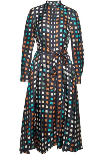 Boss Boss Desmona Printed Silk Dress