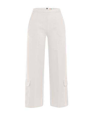 Msgm Msgm Crepe Culottes - White