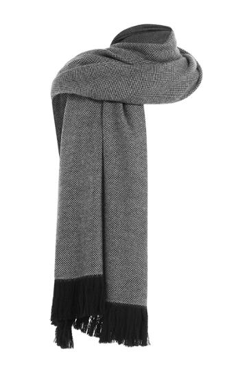Agnona Agnona Wool Scarf - Black