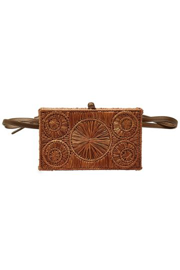 Sophie Anderson Sophie Anderson Raffia Belt Bag With Leather