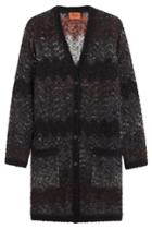 Missoni Missoni Knit Cardigan With Wool - Grey