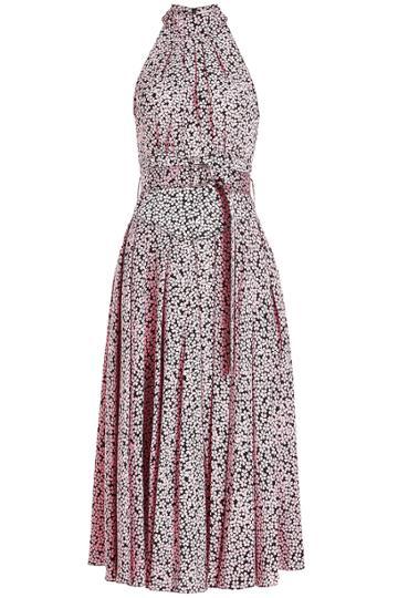 Diane Von Furstenberg Diane Von Furstenberg Silk Printed Halter Dress