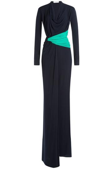 Vionnet Vionnet Colorblock Draped Gown