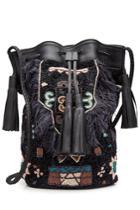 Antik Batik Antik Batik Embellished Shoulder Bag With Leather