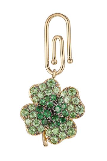 Aurélie Bidermann Fine Jewelry Aurélie Bidermann Fine Jewelry 18kt Gold Clover Pendant With Tsavorites - None
