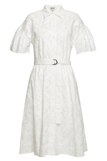 Kenzo Kenzo Embroidered Cotton Midi Dress