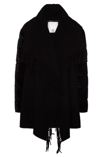 Moncler Moncler Cardigan Coat With Velvet Sleeves