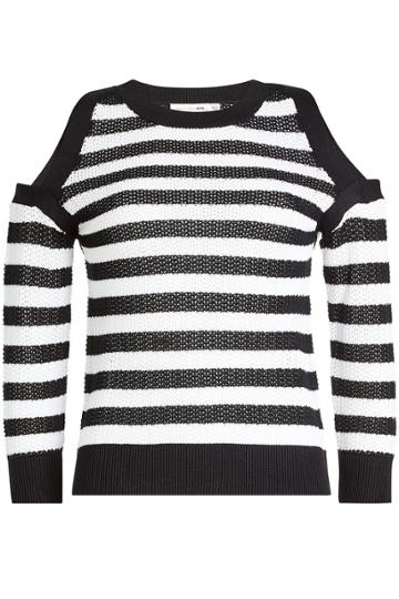 Rag & Bone Rag & Bone Tracey Cotton Pullover With Cold Shoulders