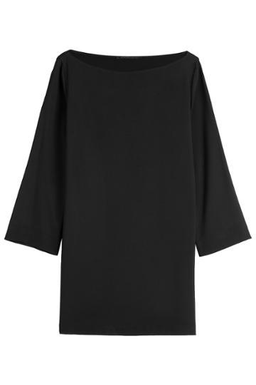 Agnona Agnona Tunic Top - Black