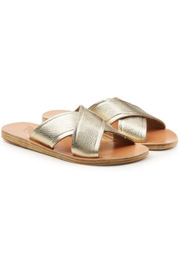 Ancient Greek Sandals Ancient Greek Sandals Thais Metallic Leather Sandals