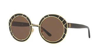 Tory Burch 51 Black Round Sunglasses - Ty6062