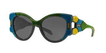 Prada Pr 10us 54 Blue Round Sunglasses