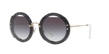 Miu Miu Mu 06ss 63 Purple Round Sunglasses