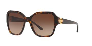 Tory Burch 56 Tortoise Square Sunglasses - Ty7125