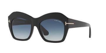 Tom Ford Emmanuelle 54 Black Square Sunglasses