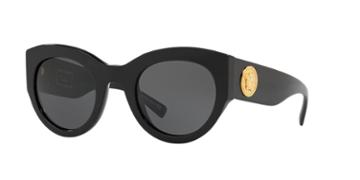 Versace 51 Black Cat-eye Sunglasses - Ve4353