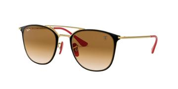Ray-ban Rb3601m 52 Gold Wrap Sunglasses
