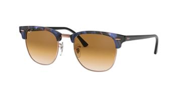 Ray-ban 51 Clubmaster Brown Square Sunglasses - Rb3016