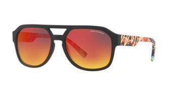 Armani Exchange Ax4074s 57 Black Rectangle Sunglasses