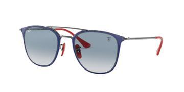 Ray-ban Rb3601m 52 Gunmetal Wrap Sunglasses