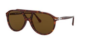 Persol 59 Tortoise Pilot Sunglasses - Po3217s