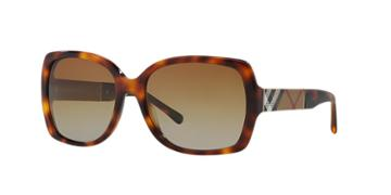 Burberry Tortoise Square Sunglasses - Be4160