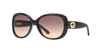 Gucci Gg3644/ns 56 Black Oval Sunglasses
