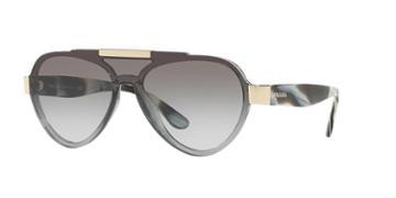Prada Pr 01us 44 Grey Aviator Sunglasses