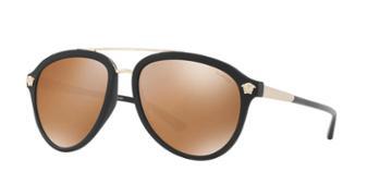 Versace 58 Black Matte Aviator Sunglasses - Ve4341