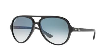 Ray-ban 59 Cats 5000 Black Aviator Sunglasses - Rb4125
