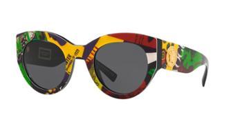 Versace 51 Black Wrap Sunglasses - Ve4353