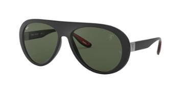 Ray-ban Rb4310m 59 Black Matte Wrap Sunglasses