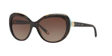 Tiffany & Co. 56 Tortoise Square Sunglasses - Tf4122