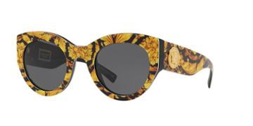 Versace 51 Yellow Wrap Sunglasses - Ve4353