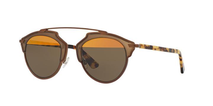 Dior Soreal Gold Round Sunglasses
