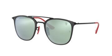 Ray-ban Rb3601m 52 Black Matte Wrap Sunglasses