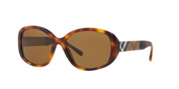 Burberry Tortoise Oval Sunglasses - Be4159