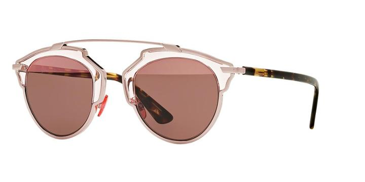 Dior Brown Round Sunglasses - Soreal