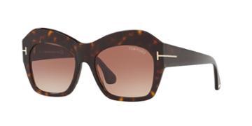 Tom Ford Emmanuelle 54 Tortoise Square Sunglasses