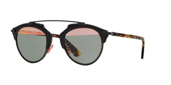 Dior Black Round Sunglasses - Soreal