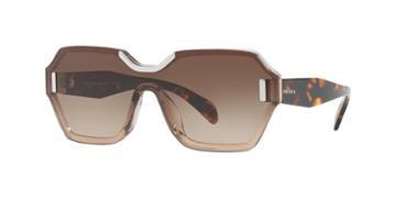 Prada Pr 15ts 48 Brown Square Sunglasses