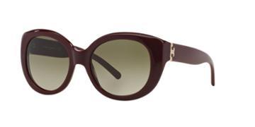 Tory Burch Ty7076 54 Burgundy Round Sunglasses