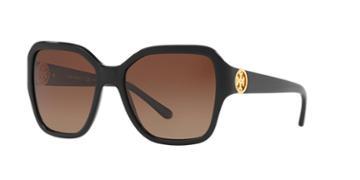 Tory Burch 56 Black Square Sunglasses - Ty7125
