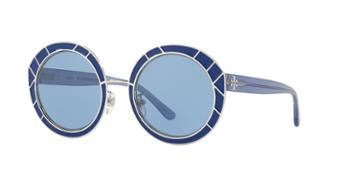 Tory Burch 51 Blue Round Sunglasses - Ty6062