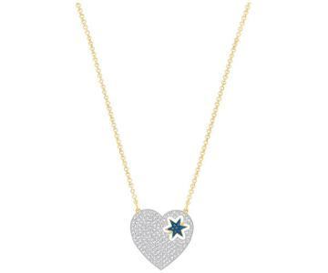 Swarovski Swarovski Great Star Necklace, Blue White Gold-plated
